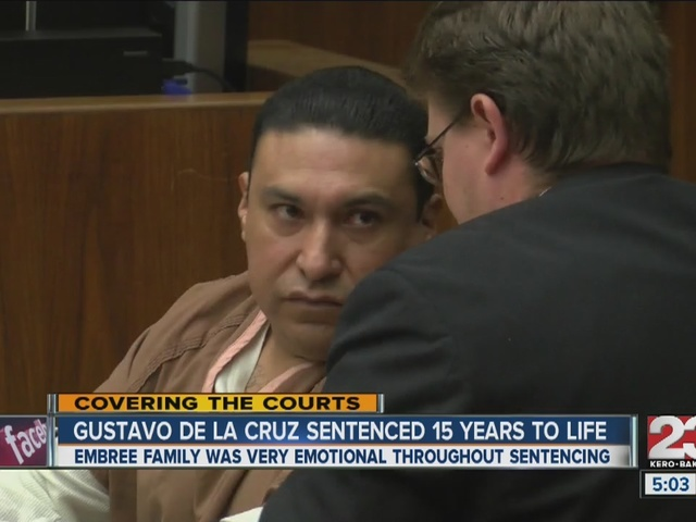Gustavo De La Cruz sentenced 15 years to life