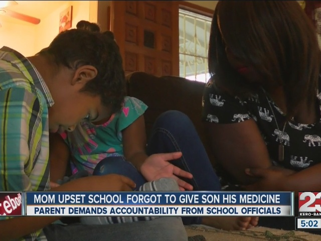 Mom upset that school failed to give her son his medication