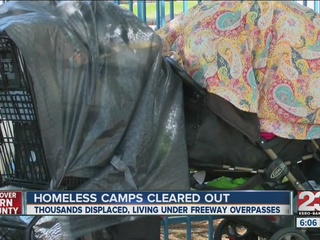 Homeless camps cleared out, thousands displaced