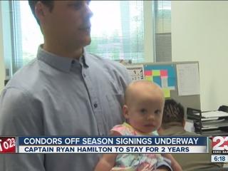 Captain Ryan Hamilton re-signs with the Condors