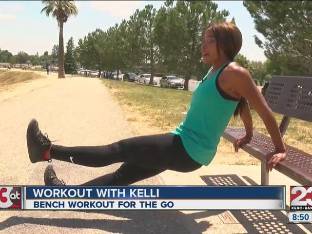 Bench workout with Kelli