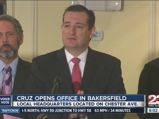 Cruz opens office in Bakersfield