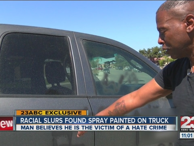 Man says graffiti on his truck was a hate crime