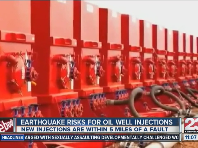 Earthquake risks for oil well injections