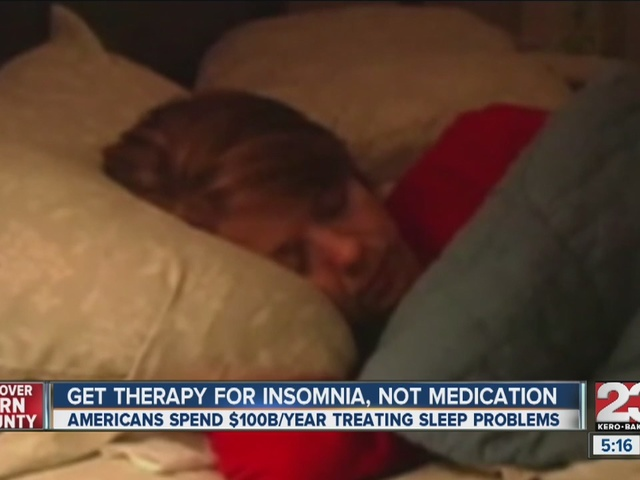Get therapy for insomnia, not medication
