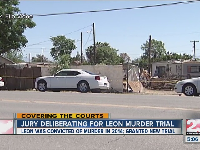 Jury deliberating for leon murder trial