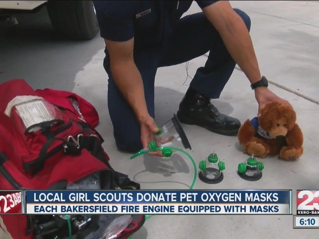Local Girl Scouts donate pet oxygen masks