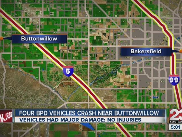 4 BPD officers crash vehicles near Buttonwillow
