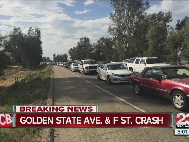 Crash on Golden State backs up traffic
