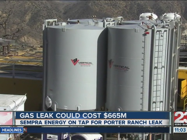 Gas leak in Porter Ranch could cost $665 million