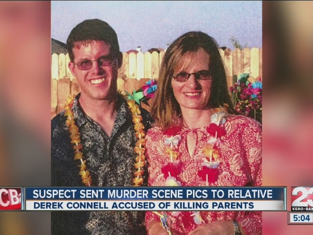Search warrant shows Derek Connell took pictures of dead parents' bodies