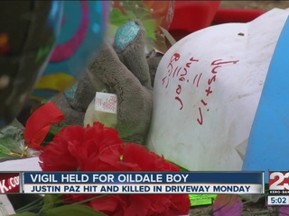 Vigil held for 9 year old hit by car on Monday
