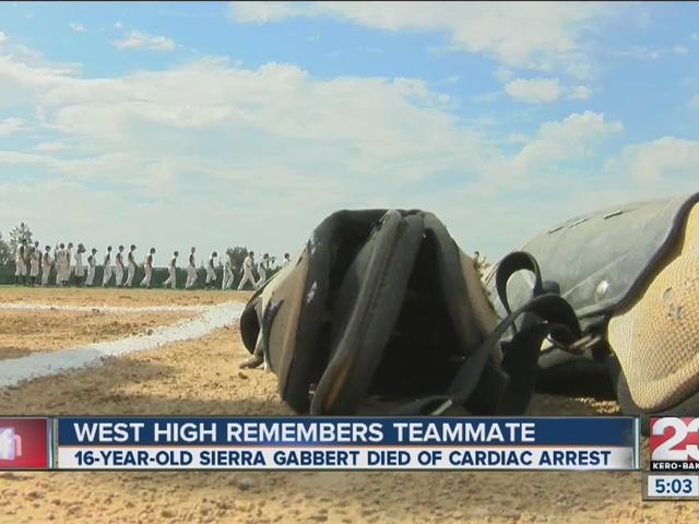West High softball remembers fallen teammate