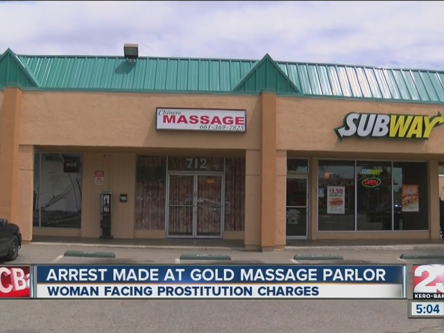 Woman arrested on suspicion of prostitution at Bakersfield massage parlor