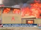 Firefighters burn house for training excercise