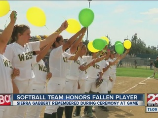 Sierra Gabbert honored before today's game