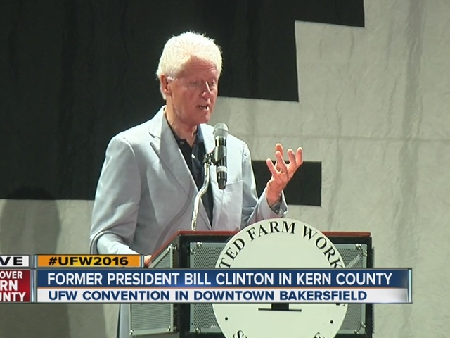 Former President Bill Clinton speaks at UFW convention in Bakersfield
