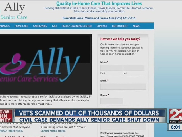 Vets scammed out of thousands of dollars