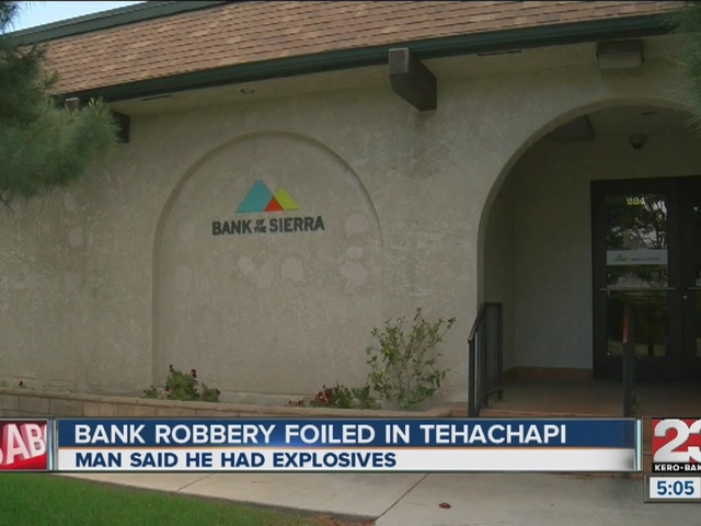 Bank customers take down robber at Tehachapi bank