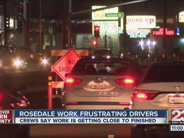 Rosedale Hwy roadwork is frustrating drivers