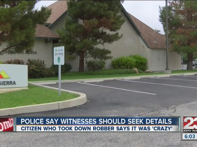 Tehachapi Police Chief describes what you should do if you're a robbery…
