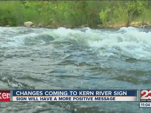 Possible changes coming to Kern River sign