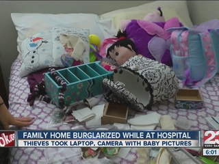 Family home broken into while at the hospital