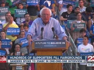 Bernie Sanders speaks at Kern County rally