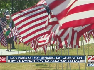 One-thousand flags placed to honor the fallen