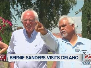 Chavez family, Sanders visit landmark in Delano