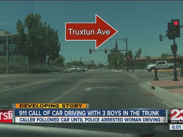 9-1-1 call: woman put 3 boys in trunk