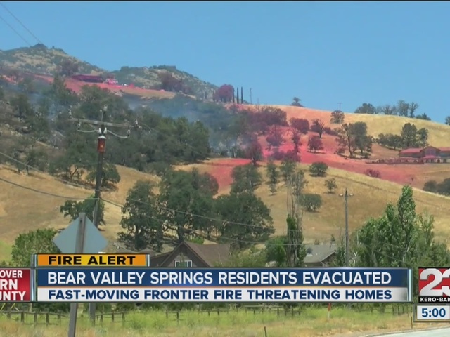 Crews work to contain Frontier Fire in Bear Valley Springs