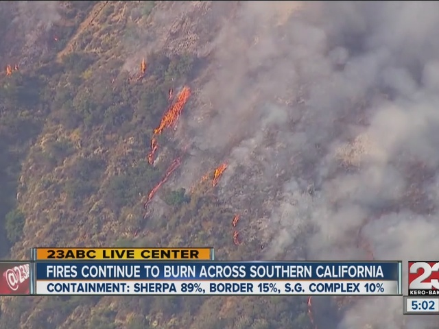 Southern California fires continue to burn