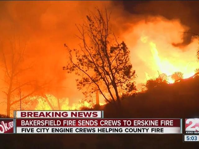 Erskine Fire destroys upwards of 100 homes in Lake Isabella, burns 19k…