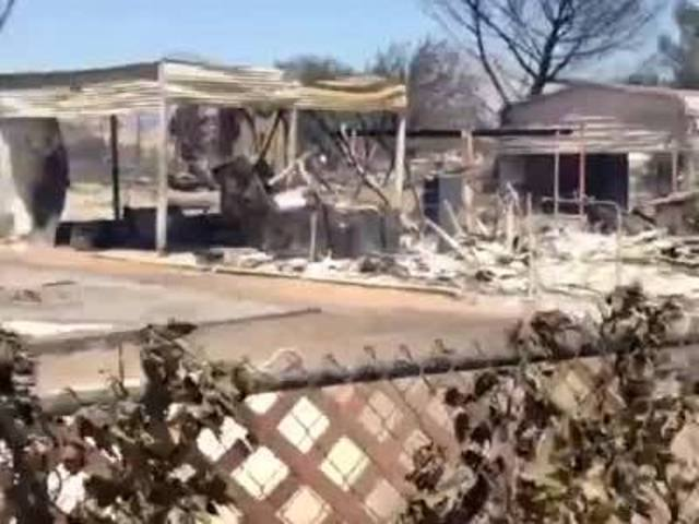 Homes destroyed by Erskine Fire