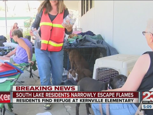 Red Cross sets up aid for those displaced by the Erskine Fire