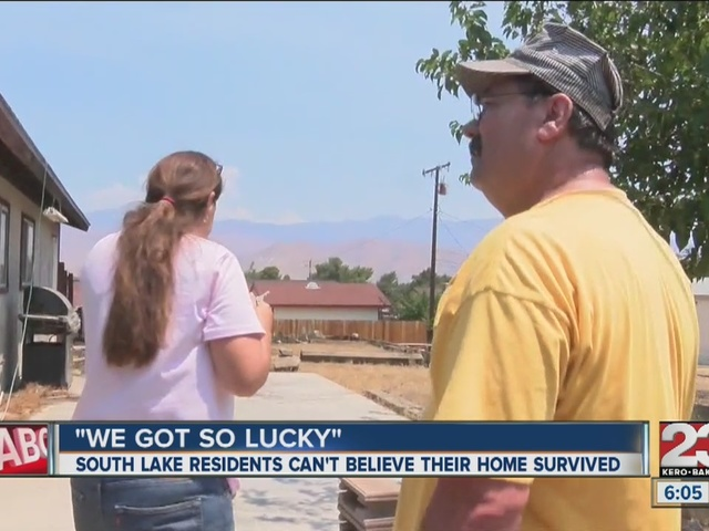 South Lake residents shocked that their home survived Erskine Fire
