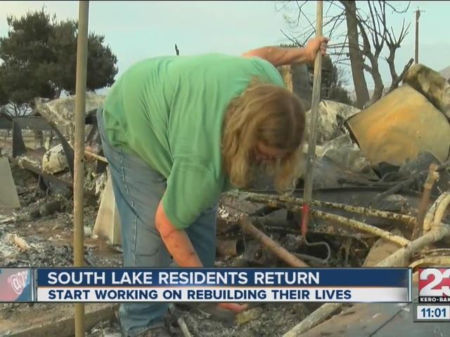 South Lake residents return home