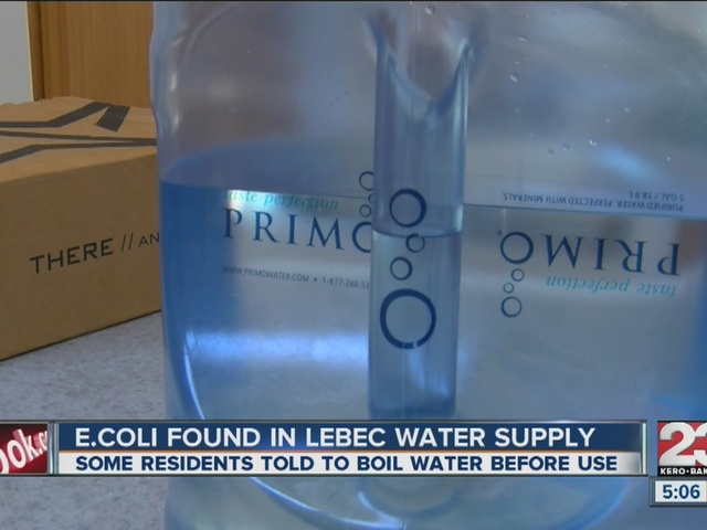 Boil water notice in place for some Lebec residents after E.Coli was…