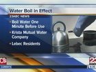 Water boil order for some Lebec residents