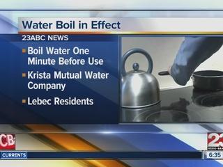 Water boil order for some Lebec residents