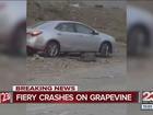 Traffic now flowing after crashes on Grapevine