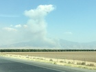 Fire grows rapidly near Highway 58 and 223