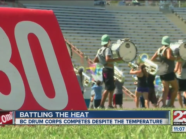 Local drum and bugle corps embraces heat