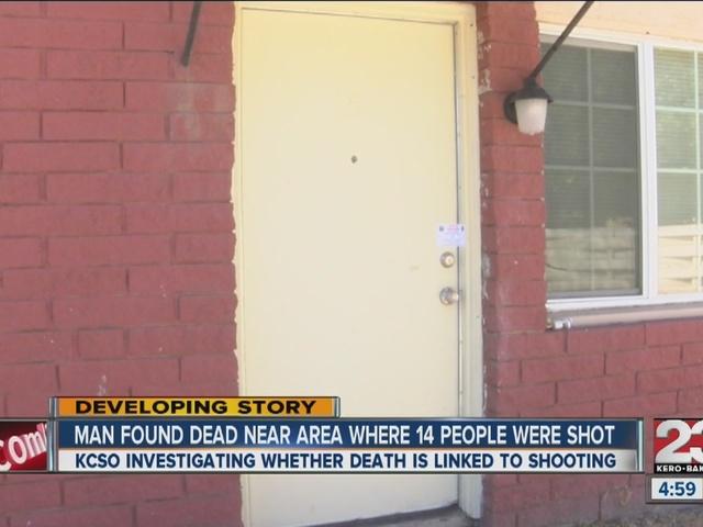 Man found dead near area where 14 people were shot