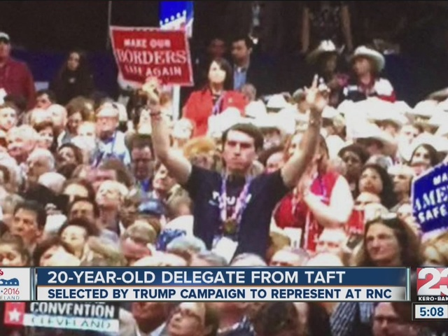 Taft man serves as a delegate for Trump, attending RNC in Ohio