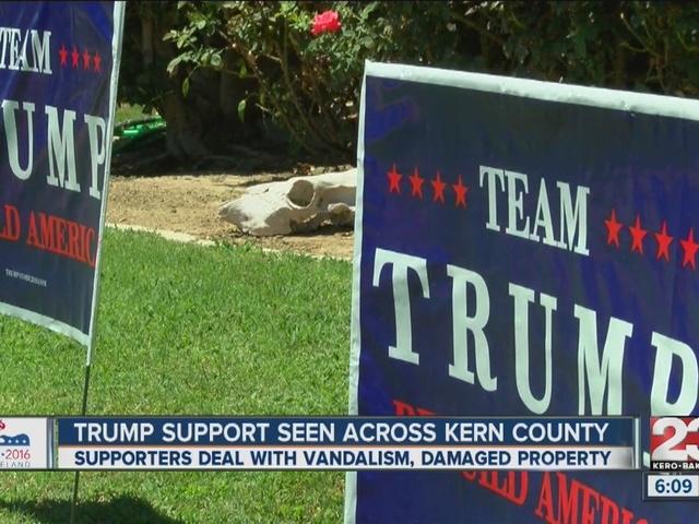 Trump support seen across Kern County