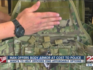 Local man offers body armor for police