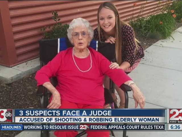Suspects involved in robbing and shooting 80-year-old woman set to…