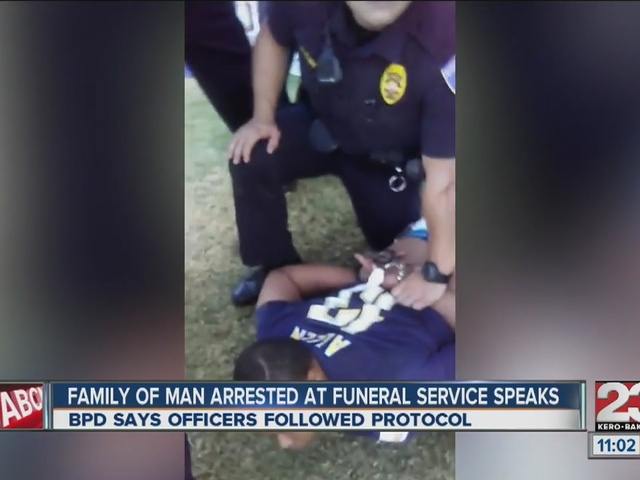 Family responds to BPD video of arrest at a funeral